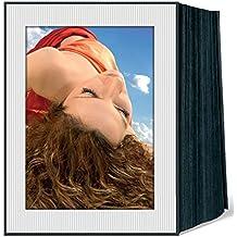 Daiber–Rollo de cinta de espacios para fotos, cartulina fotográfica Micro Line para formato de imagen, 13x 18cm, 125unidades), color blanco