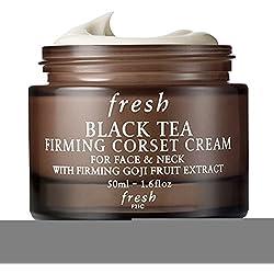 Fresh Schwarzer Tee Straffende Korsett Creme für Gesicht & Hals 1.6oz (50ml)