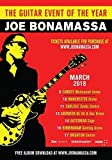 Joe Bonamassa Blues of Desperation 2018 UK Tour Foto Poster Gitarre 001 (A5-A4-A3) - A3