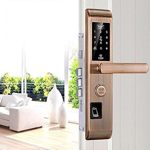 Digitale Türschloss Biometrische Fingerabdruck Smart Code Keyless Locks Mit Smartphone App,Perfekt für Office & Home -E (Biometrische Tastatur)