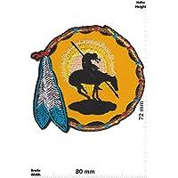 Bügelbilder Bügelbild zum Geburtstag Indianer Mädchen Applikation mit Name und Alter bb010