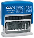 Colop 14531000 Wortbandstempel (selbstfärbend, 12 Texte, 43 x 4 mm) rot, blau