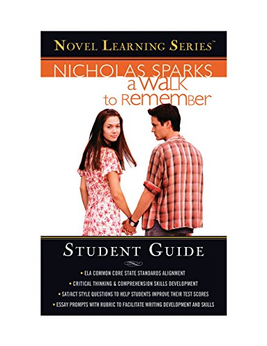 a-walk-to-remember-student-edition-novel-learning-series-english-edition