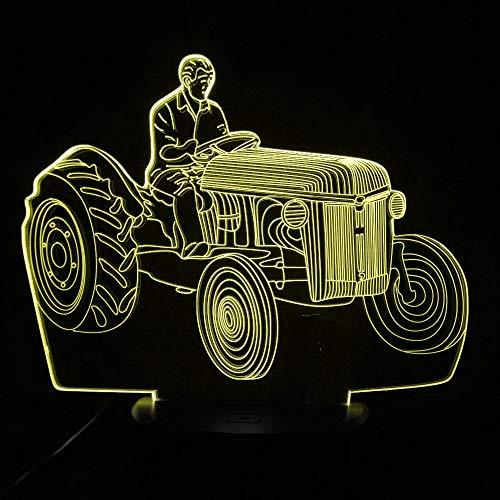 Neue Ankunft Antrieb Traktor 3D Illusion Lampe 7 Farbwechsel Touch Wohnkultur Kreatives Geschenk Usb Led Auto Nachtlicht Kinder Geschenk han-10379