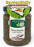GardenSicily Pesto Siciliano Condimento con Materie prime di altissima qualità - Prodotto tipico Barattolo Condimento da 190 gr. (Pesto Finocchietto Selvatico)