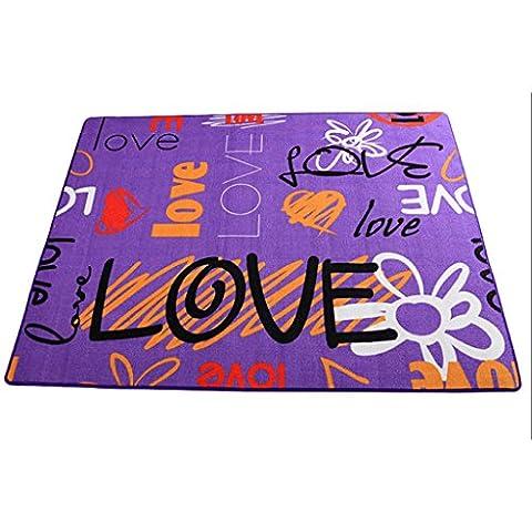 @ HOME & - Creative Purple personnalisé tapis de la mode chambre à coucher salon table basse mignon antidérapant peut être lavé antidérapant flottant fenêtre pad
