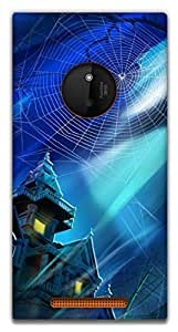 The Racoon Grip haunted house hard plastic printed back case / cover for Nokia Lumia 830