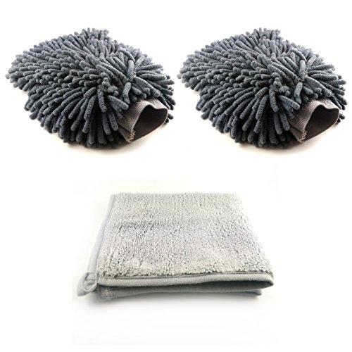 2-Microfaser-Handschuhe-und-1-Microfaser-Tuch-zur-Reinigung-und-Pflege-fr-Auto-und-Motorrad-fr-den-Innen-Raum-und-fr-aussen