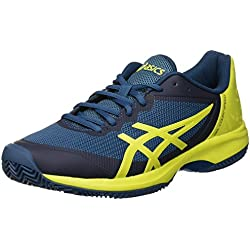 Asics Gel-Court Speed Clay, Zapatillas de Tenis para Hombre, (Ink Blue/Sulphur Spring/Turkish Tile 4589), 44 EU
