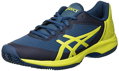 ASICS Gel-Court Speed Clay, Scarpe da Tennis Uomo, Multicolore (Ink Blue/Sulphur Spring/Turkish Tile 4589), 43.5 EU
