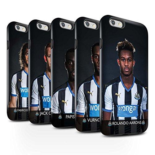 Offiziell Newcastle United FC Hülle / Glanz Harten Stoßfest Case für Apple iPhone 6S+/Plus / Pack 25pcs Muster / NUFC Fussballspieler 15/16 Kollektion Pack 25pcs