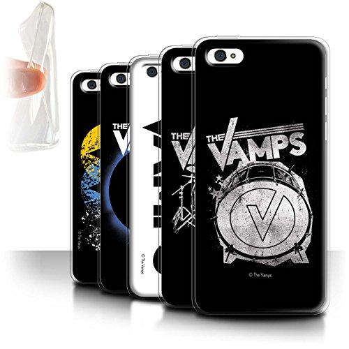 Offiziell The Vamps Hülle / Gel TPU Case für Apple iPhone 5C / Pack 6pcs Muster / The Vamps Graffiti Band Logo Kollektion Pack 6pcs