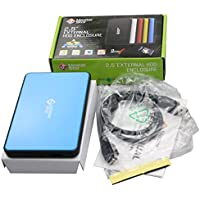 MasterStor USB 3.0Disco duro externo portátil de alta velocidad y PC portátil disco duro SATA de 2,5pulgadas disco duro externo disco duro (2años de garantía) color azul azul azul 250 gb
