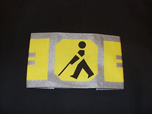 Armbinde Größe L reflektierend mit Gummizug - Blindenarmbinde - Kennzeichnung für Blinde