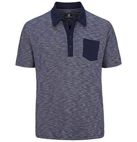 Fett Streifen-baumwoll-shirt (Jan Vanderstorm Herren Poloshirt Endre in Übergröße | Große Größen | Plus Size | Big Size | XL XXL XXXL 4XL 5XL 6XL 7XL 8XL 9XL 10XL)