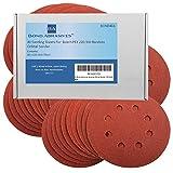 Discos de lijado Bond Abrasives para lijadora orbital aleatoria Bosch PEX 220/300 de 125 mm, grano 180 (fino), 40 unidades