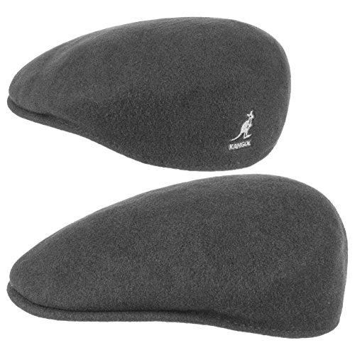 Kangol Herren Damen Mütze Schirmmütze Flatcap Original 504 | Schlägermütze mit Kultstatus 0258BC Schirmmütze Mütze (M/56-57 - anthrazit)