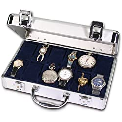 Safe 265 Watch Case For 12 Watches Leather Lockable 280X200X80 MM