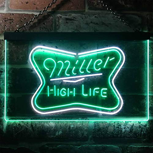 zusme Bud Light Alligator Gator Beer Novelty LED Neon Sign White + Green W30cm x H20cm - Gator Light