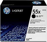 HP 55X (CE255X) Schwarz Original Toner mit hoher Reichweite für HP Laserjet Enterprise P3015, M525, HP Laserjet Pro M52