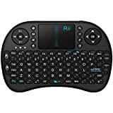 Rii i8 Multifunction 2.4 GHz RF Portable Mini Wireless Keyboard with Touchpad Mouse - Black