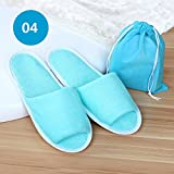 Foldable Women/Men Spa Slippers Durable Flip Flops Open Toe Washable Portable Pocket Sandals for Traveling/Family/Dormitory