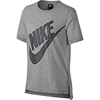 Nike W NSW SS Prep Futura Camiseta, Mujer, Gris (Dk Grey Heather/Dark Grey), L - Cosmética y perfumes - Comparador de precios