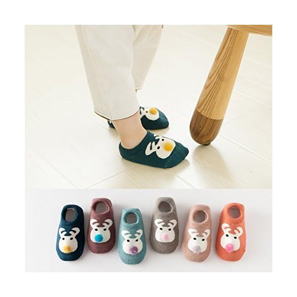 Estwell 6 Pares Calcetines Bebé Antideslizante Infantil Niños Niñas Invierno Grueso Calcetines Animados 5
