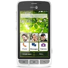 "Doro Liberto 820 Mini - Smartphone libre Android (pantalla 4.5"", Octa-Core, 4 GB, 512 MB RAM, cámara 5 Mp), color blanco y plateado"