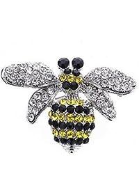 9e3e643460bd Nuevo en caja de regalo Ladies Womens impresionante bañado en plata abeja  de cristal broche Pin
