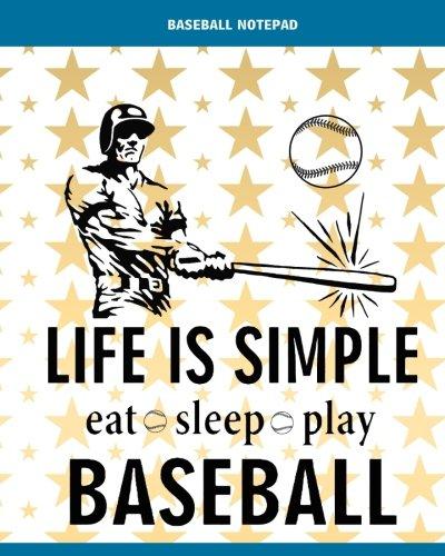 Baseball Notepad: 8' x 10'' Babe Ruth Baseball Blank Notebook Notepad Journal To-Do-List Book Planner Lined Notebook Composition Book Gift  Baseball ... Notebook Ruled Lined Composition Book Series) por Baseball Notebook