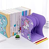 Gracious Mart - Expandable Bookcase Desktop Bookend Stand Holder Adjustable Book Rack for Kid Office Book Organizer…