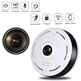 WiFi IP 360-Grad-Kamera, mit Weitwinkel, Fisheye-Funktion, 3D VR 960P, HD-Panoramic, Wireless, Babyphone, Outdoor-IR, Nachtmodus, Bewegungserkennung, für iOS + Android + PC und Mac Home Security SW05