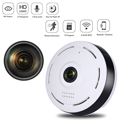 Wifi IP Camera 360 Degree Super Wide Angle Fisheye 3D VR 960P hd Panoramic  Wireless Nanny Cam Outdoor supporto di IR Night Motion Detection Per