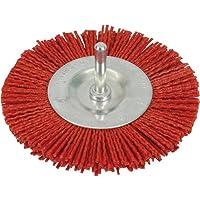 Silverline 589713 Cepillo Circular Abrasivo con Filamentos de Nylon, Grueso, 100 mm