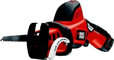 Black + Decker 10.8V Ultra-Kompakt-Astsäge, Astklemme, Äste mit 7.5cm Durchmesser, Universal-Sägeblattaufnahme, GKC108