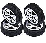 Yeeco 4er Pack Kunststoff Spielzeug Auto Reifen Rad, Mini Φ1.9 * 30mm Intelligent RC Auto Roboter Reifen Modell Gang Teile
