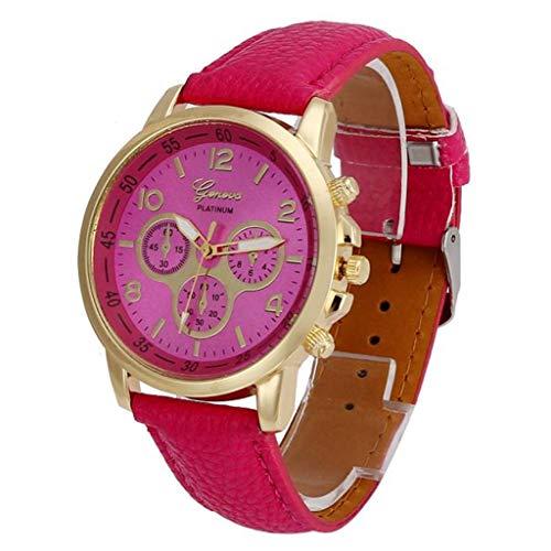Jia Meng Paar Genf Quarzuhr, Unisex Casual Genf Kunstleder Quarz Analog Armbanduhr Uhren (Pullover Paar Weihnachten)
