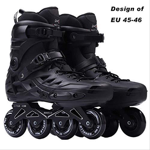 STBB Rollschuhe Männer Herren Inline Skates Adult Roller Skating Schuhe Sliding Freestyle Skating Patines Rockered Wheels 18 RS6-Big Schwarz