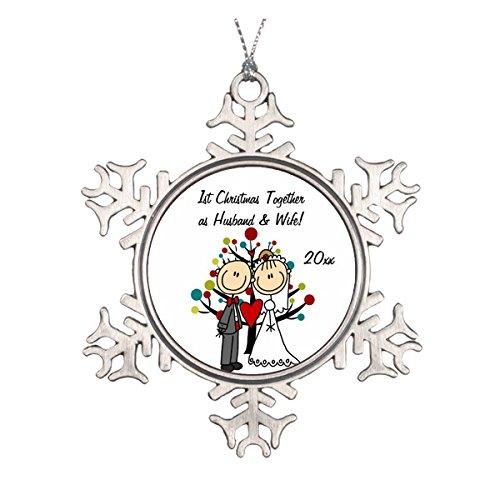 Daily Lady Hochzeitspaar 1st Christmas Personalisierte Ornament
