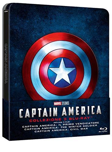 Captain America Trilogia Steelbook (Limited Edition) (3 Blu Ray)