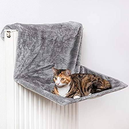 CanadianCat Company ®   XXL Hammock   Liegemulde BZW. Heizungsliege für Grosse Katzen   Silber Hellgrau   verstellbar…