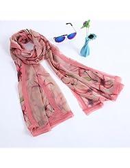 ZLL Vintage señoras bufandas impresos, bufandas chales , 2