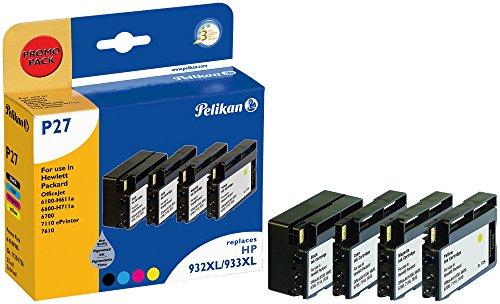 Pelikan Druckpatronen PromoPack P27 ersetzt HP CN053AE/CN054AE/CN055AE/CN056AE, BK/C/M/Y