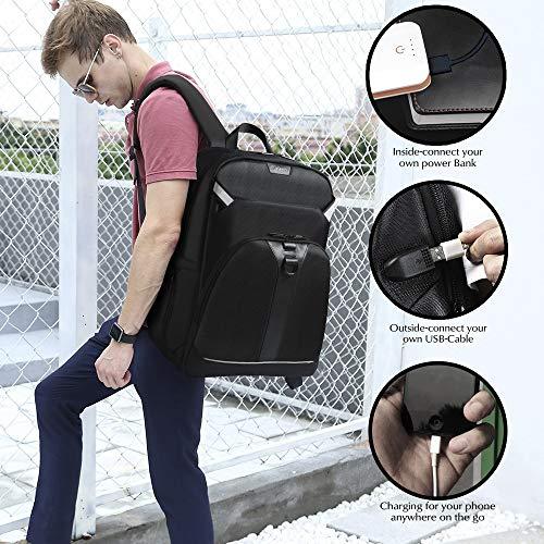 ffc0b4c7a1d2e3 G-FAVOR Zaino per PC Portatile per Fino a 17,3 Pollici Notebook Zaini con  Porta USB Zainetto da Uomo per Viaggio Lavoro Affari Viaggio Escursionismo  ...