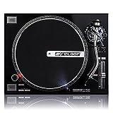 Reloop RP-7000 Quartz Driven DJ Turntable with Upper-Torque Direct Drive, Black