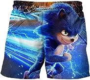 EA-SDN Sonic - Bañador de verano para niños, diseño de animación en 3D, para niños de 4 a 16 años