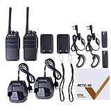 Retevis RT24 Plus Funkgerät Walkie Talkie 16 Kanäle UHF PMR Funkgeräte Set Wiederaufladbar USB Ladeschale mit Headset (Zwei Paare, Schwarz) Vergleich