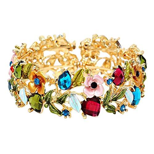 rosemarie-collezioni-da-donna-da-donna-in-vetro-cristallo-bracciale-di-moda-e-motivo-floreale