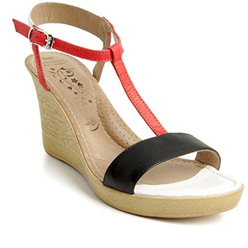 Batz VIVI Sandales Chaussure en Cuir de Qualité Supérieure Femme Eté